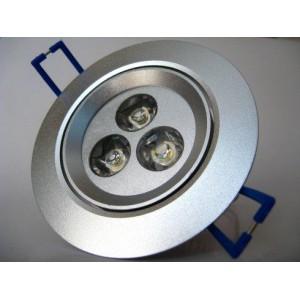 3W šiltai balta įmontuojama LED lemputė