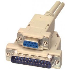 Spausdintuvo kabelis DB25 kištukas - DB9 lizdas 1.8 m