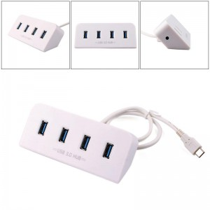 4 lizdų adapteris - USB 3.1 HUB Super Speed 5 Gbps