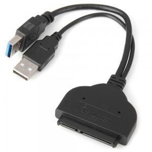 """USB 3.0 į SATA adapteris (2.5"""" HDD + 5V papildomas maitinimo lizdas iš USB)"""