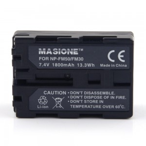 1800mAh 13Wh Battery for Sony NP-FM50 FM30 NP-FM55H