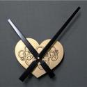 """Sieninio laikrodžio mechanizmas """"Auksinė meilės širdelė"""""""