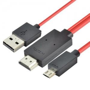 MHL Micro USB, HDMI į USB kabelis 5-pin