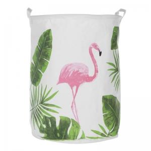 """Medvilninė daiktadėžė """"Puikusis rožinis flamingas"""""""