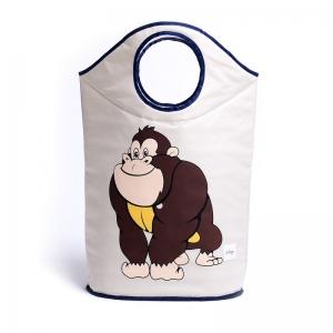 """Vaikiškas daiktų krepšys """"Pati gražiausia gorilukė"""""""