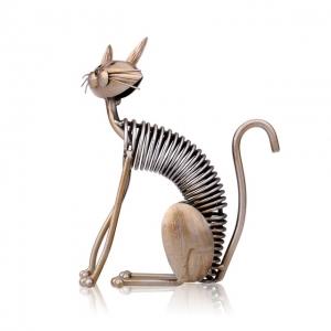 """Kūrybinė metalo skulptūra """"Pats gražiausias katinas"""""""