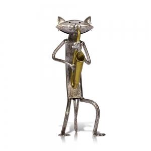 """Metalinė figurėlė """"Grojantis katinas"""""""
