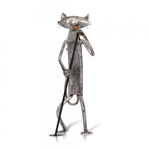 """Metalinė figurėlė """"Dainuojantis katinas"""""""