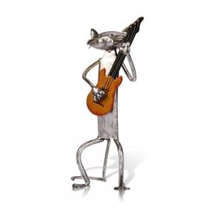"""Metalinė figurėlė """"Grojantis katinas 2"""""""