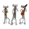 """Metalinės figurėlės """"Grojantys ir dainuojantys katinai"""""""