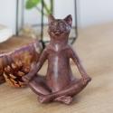 """Skulpturėlė """"Stilingasis katinas praktikuoja jogą"""""""