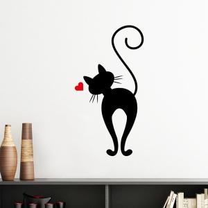 """Sieninis lipdukas """"Įsimylėjęs katinas 4"""""""
