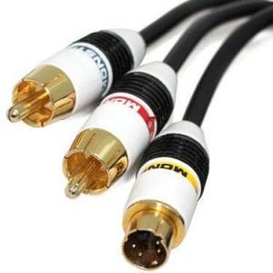 Apple MINI DVI į S-video RCA kabelis