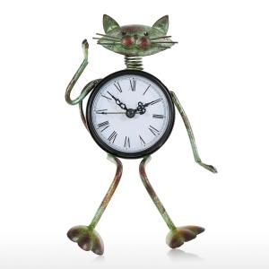 """Rankų darbo laikrodis """"Draugiškas katinas"""""""
