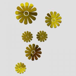 """Veidrodiniai lipdukai """"Nuostabieji žiedai 2"""" (45 x 45 cm)"""