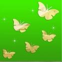 """Veidrodiniai lipdukai """"Nuostabieji drugeliai"""" (45 x 45 cm)"""