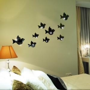"""Veidrodiniai lipdukai """"Puikieji paukšteliai"""" (45 x 45 cm)"""