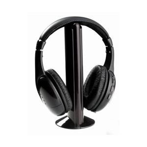 Bevielės ausinės su FM siųstuvu