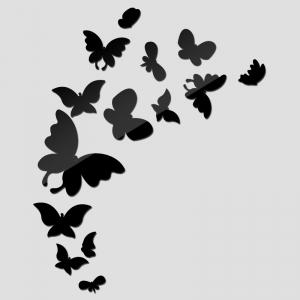 """Veidrodiniai lipdukai """"Nuostabieji drugeliai 2"""" (30 x 60 cm)"""