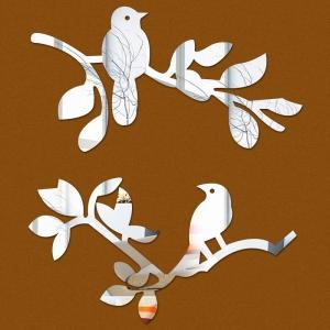 """Veidrodiniai lipdukai """"Puikieji paukšteliai 2"""" (45 x 45 cm)"""