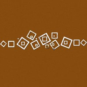 """Veidrodiniai lipdukai """"Kvadratų linija"""" (35 x 75 cm)"""
