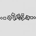 """Veidrodiniai lipdukai """"Kvadratų linija"""" (45 x 45 cm)"""