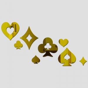 """Veidrodiniai lipdukai """"Kortų magija"""" (42 x 65 cm)"""