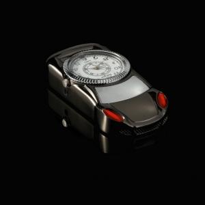 """Laikrodis žiebtuvėlis """"Juodasis automobilis 3"""""""