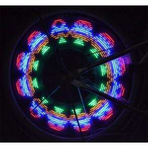 """32 LED programuojamos dviračio šviesos """"Šviesos muzika"""""""