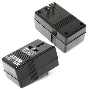 100W AC 110V/120V į 220V/240V įtampos keitiklis