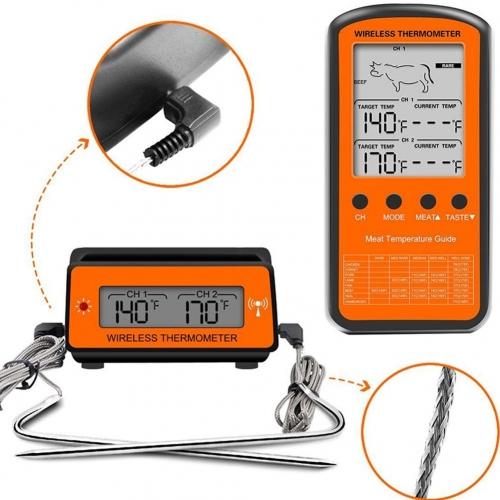 """Skaitmeninis mėsos termometras """"Aukščiausia klasė"""" (Wireless, nuotolinio valdymo) - Puiki.lt"""