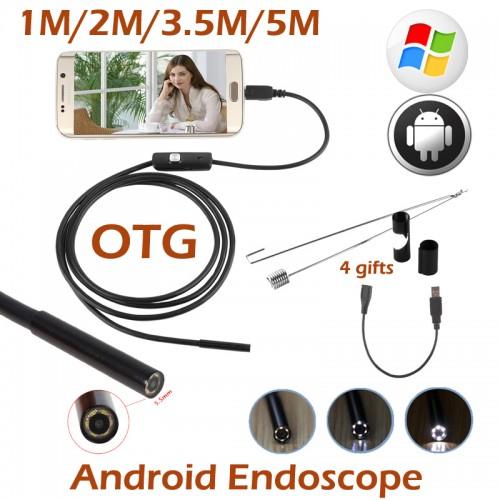 Ypatingai plona filmavimo kamera (USB, Android, 6 LED, 5.5 mm Lens)