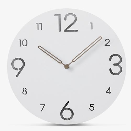 """Sieninis laikrodis """"Baltoji elegancija 4"""" (30 cm)"""