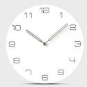 """Sieninis laikrodis """"Baltoji elegancija 6"""" (30 cm)"""