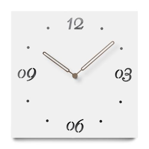 """Sieninis laikrodis """"Baltoji elegancija 10"""" (30 cm)"""