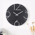 """Sieninis laikrodis """"Juodoji elegancija 3"""" (30 cm)"""