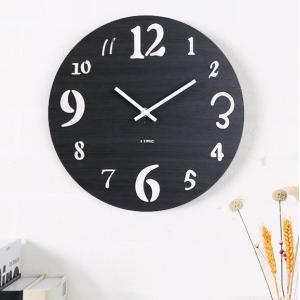 """Sieninis laikrodis """"Juodoji elegancija 4"""" (30 cm)"""