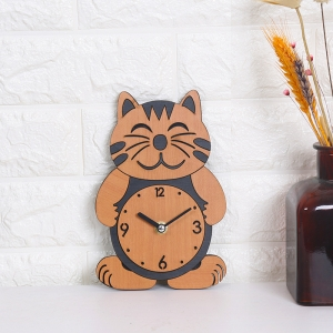 """Sieninis laikrodis """"Elegantiškas katinukas"""" (20 x 13.5 cm)"""