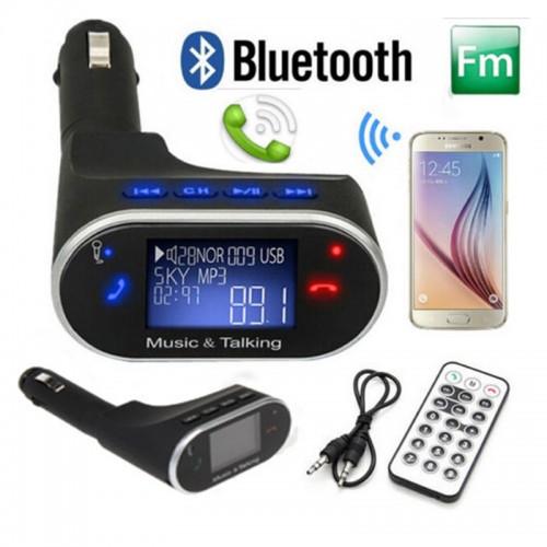 FM bangų moduliatorius automobiliams (su Bluetooth laisvų rankų įranga)