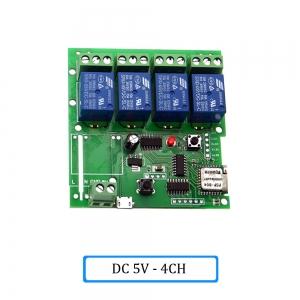 """Automatinis 4 įrenginių modulis """"Protingi namai"""" (DC 5V, WiFi, 433 MHZ)"""