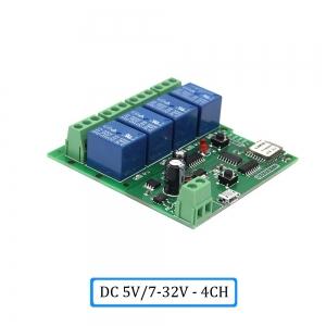 """Automatinis 4 įrenginių modulis """"Protingi namai"""" (DC 5V, 7/32 V, WiFi, 433 MHZ)"""