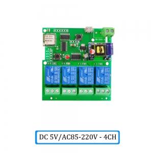 """Automatinis 4 įrenginių modulis """"Protingi namai"""" (DC 5V, AC 85-220 V, WiFi, 433 MHZ)"""