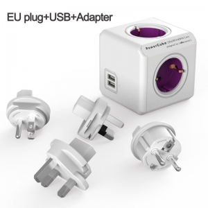 """Profesionalus kelioninis adapteris """"Auščiausia klasė"""" (EURO kištukas + USB)"""
