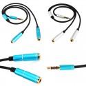 3.5mm iš 1 į 2 dviejų lizdų dalinimo kabelis
