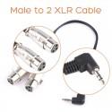 3.5mm į 2 XLR dalinimo kabelis