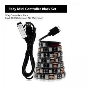 """Rankinio valdymo LED lempučių juosta """"Šviesos džiaugsmas"""" (3 mygtukų rankinis valdymas)"""