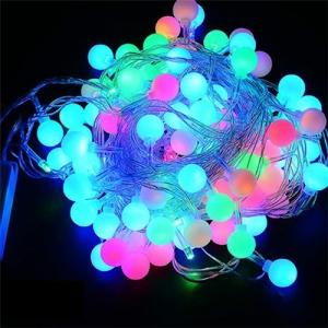 """Šviečianti lempučių girlianda """"Tikrasis Kalėdų džiaugsmas) (6 M, 40 LED, žydra + rausva šviesa)"""