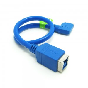 USB 3.0 B female į micro USB 3.0 B male kabelis