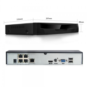 """4 kanalų vaizdo įrašymo įtaisas """"Aukščiausia klasė 5"""" (CCTV DVR į TCPIP)"""