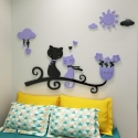 """Veidrodiniai lipdukai """"Nuostabieji katinai"""" (75 x 50 cm)"""